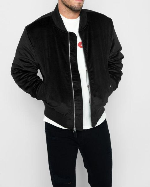 7 For All Mankind - Micro Cord Bomber In Black for Men - Lyst