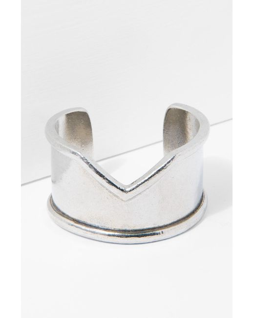7 For All Mankind The 2 Bandits Venus Cuff In Silver 6LRIGy
