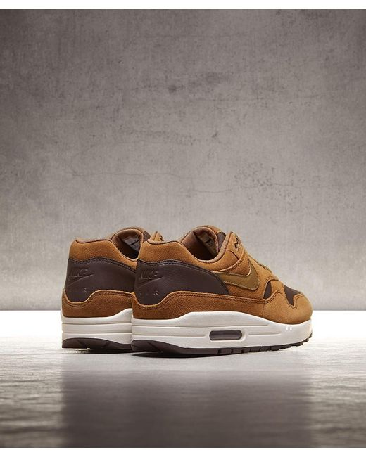 new style 24860 ca890 ... Nike - Brown Air Max 1 Premium Trainer for Men - Lyst ...