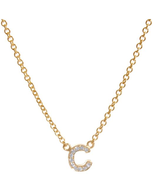 Jennifer Meyer | Metallic Initial Necklace | Lyst