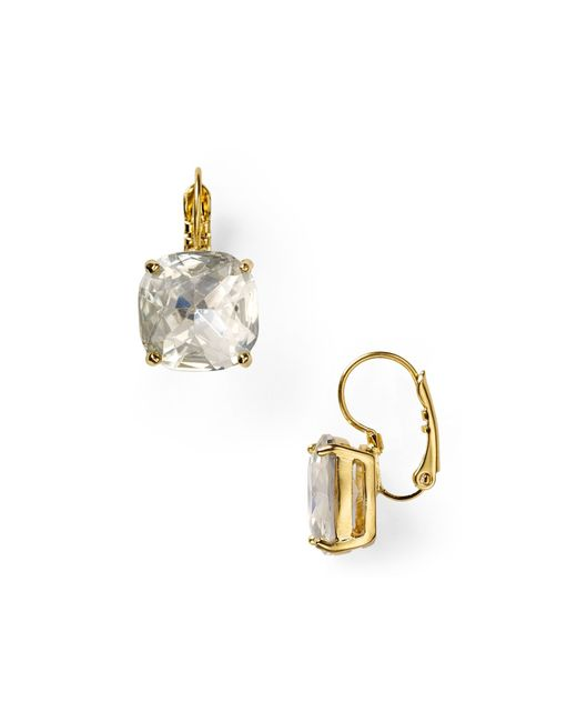 Kate Spade | Metallic Small Square Leverback Earrings | Lyst