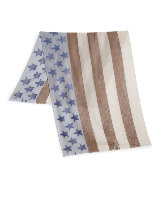 Roda | Brown Burnout Usa Flag Scarf for Men | Lyst