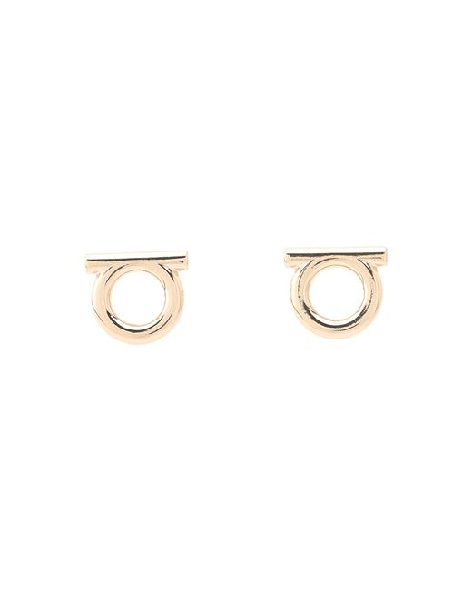 Ferragamo   Metallic Brand Stud Earrings   Lyst