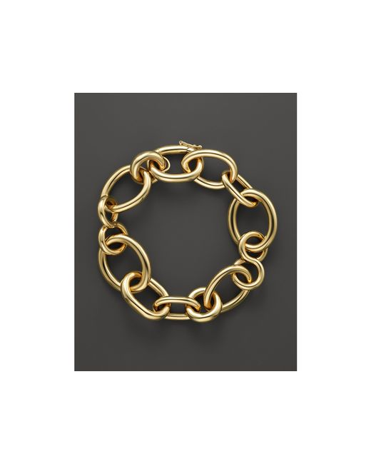 Roberto Coin | Metallic 18k Yellow Gold Alternating Shape Link Bracelet - Bloomingdale's Exclusive | Lyst