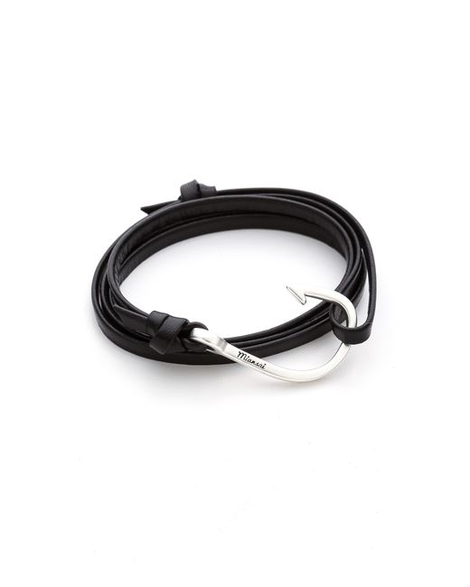 Miansai | Metallic Hooked Leather Wrap Bracelet for Men | Lyst