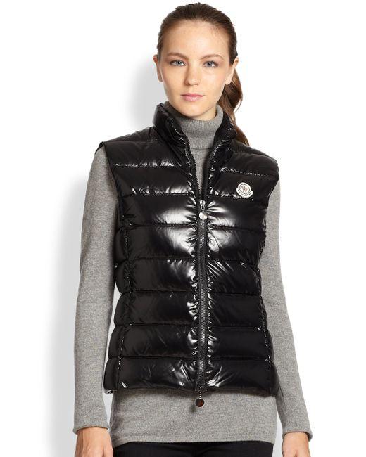 moncler ghany black vest