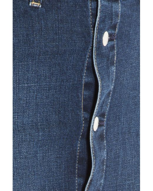 ag denim button up skirt in blue lyst