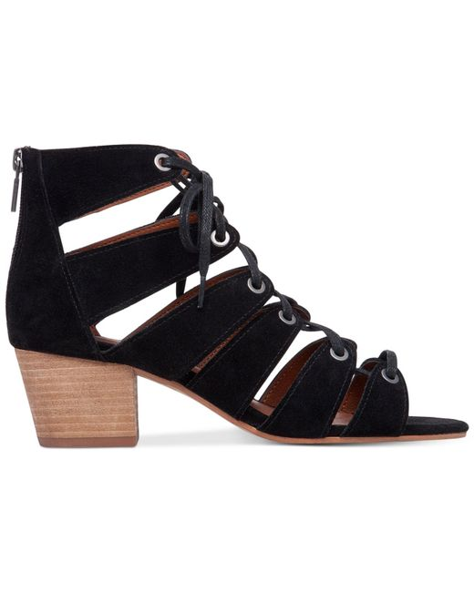 Lucky Brand Women S Genevie Ghillie Lace Up Sandals In
