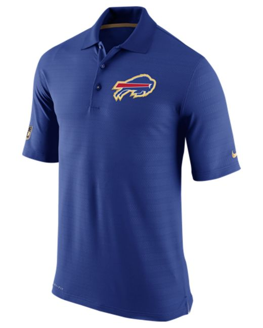 Nike men 39 s buffalo bills champ drive polo in blue for men for Buffalo bills polo shirts