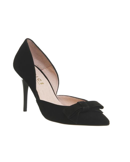 office wilma bow court shoes in black save 47 lyst