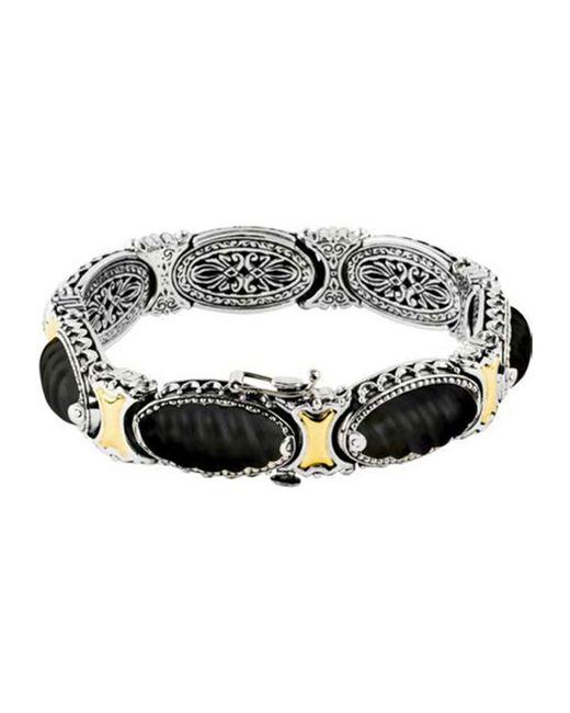 Konstantino   Metallic Penelope Sterling Silver Etched Link Bracelet   Lyst