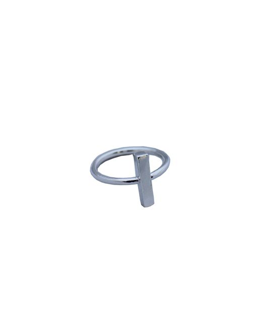 Adina Reyter | Metallic Bar Ring In Silver | Lyst