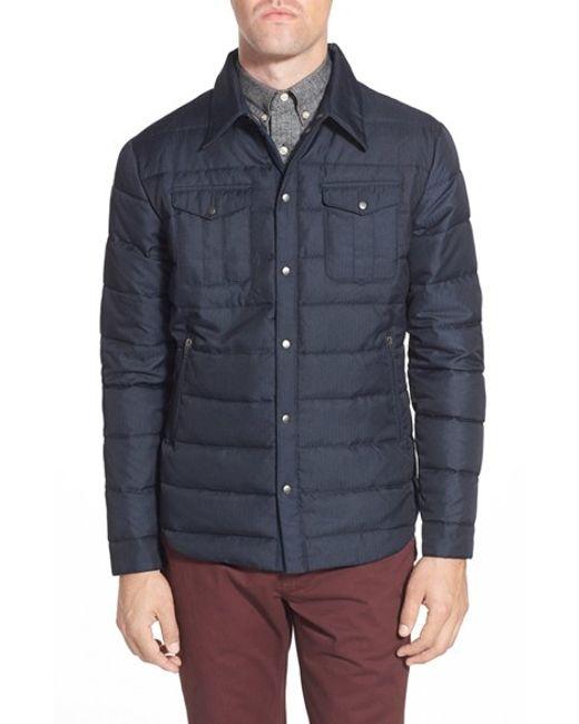 Slate And Stone Clothing : Slate stone ethan quilted herringbone down jacket in