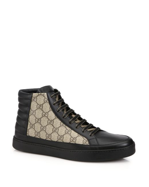 Gucci | Black Gg Supreme High-top Sneakers for Men | Lyst