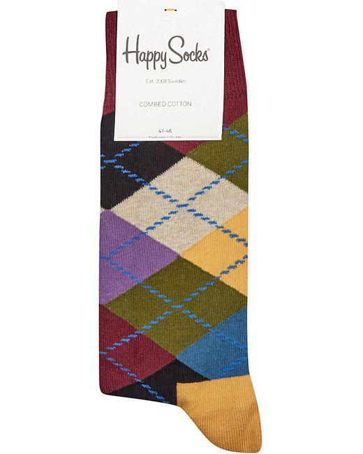 Happy Socks | Multicolor Argyle Socks for Men | Lyst