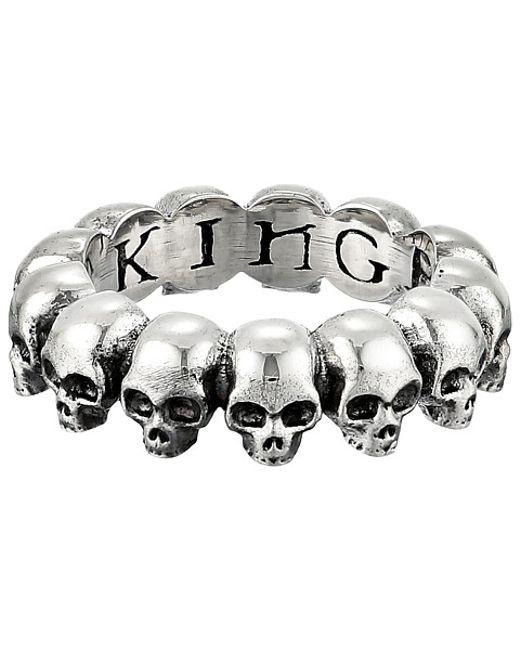 King Baby Studio | Metallic Skull Infinity Ring | Lyst