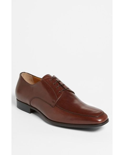 Santoni | Brown 'prichard' Apron Toe Derby for Men | Lyst