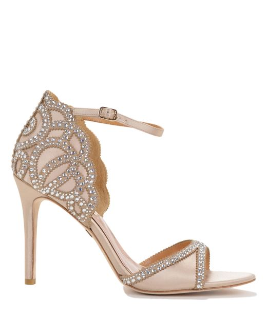 Badgley Mischka | Natural Roxy Ankle Strap Evening Shoe | Lyst