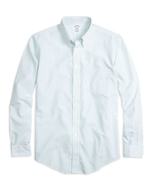 Brooks Brothers | Green Non-iron Brookscool® Madison Fit Tattersall Sport Shirt for Men | Lyst