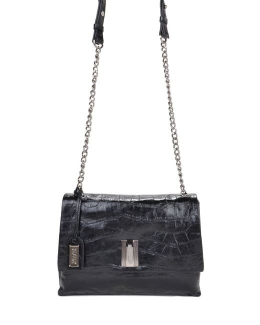 Badgley Mischka   Black Mila Croco Handbag   Lyst