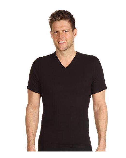 Spanx   Black Cotton Compression V-neck for Men   Lyst