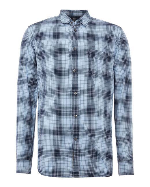 DIESEL | Blue Long Sleeve Check Shirt for Men | Lyst