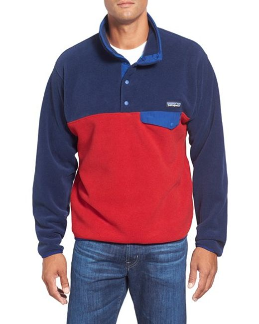 Patagonia | Red 'synchilla Snap-t' Fleece Pullover for Men | Lyst