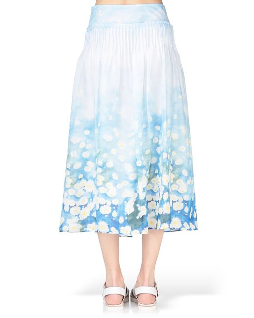cacharel midi skirt maxi skirt in blue save 40 lyst