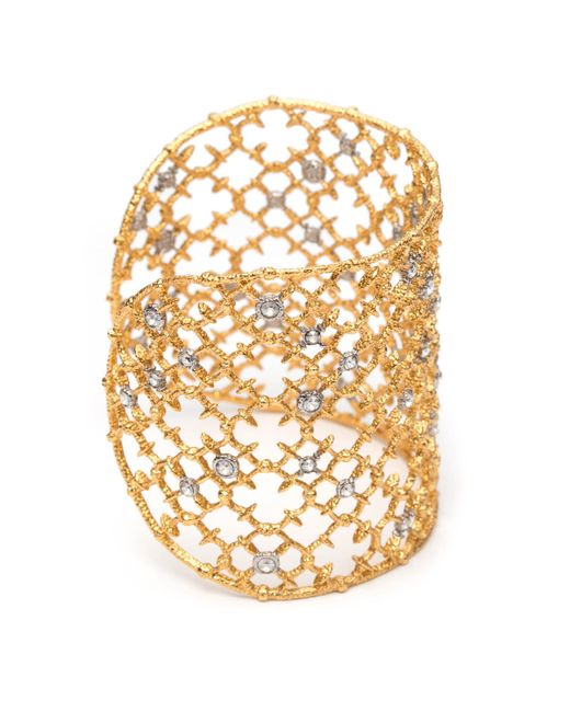 Alexis Bittar | Metallic Muse D'ore Gold Crystal Studded Spur Lace Cuff You Might Also Like | Lyst