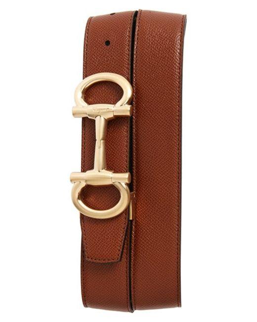 Ferragamo | Brown 'parigi' Reversible Leather Belt for Men | Lyst