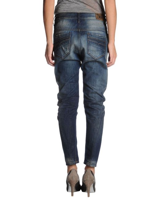DIESEL | Blue Denim Pants | Lyst