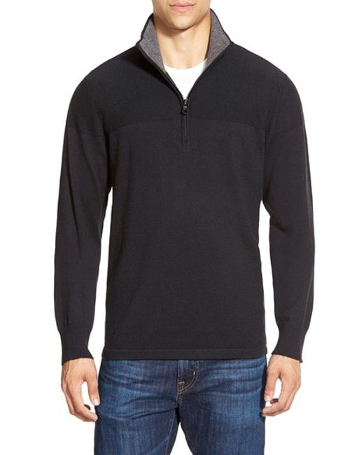 The North Face | Black 'mt. Tam' Quarter Zip Sweater for Men | Lyst