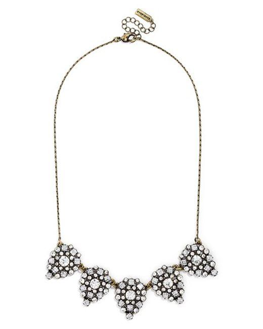 BaubleBar | Metallic 'frost' Crystal Teardrop Necklace | Lyst