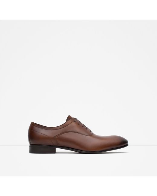 Innovative Home  Men  Shoes  Formal Shoes  ZARA LEATHER OXFORD SHOES SLICE