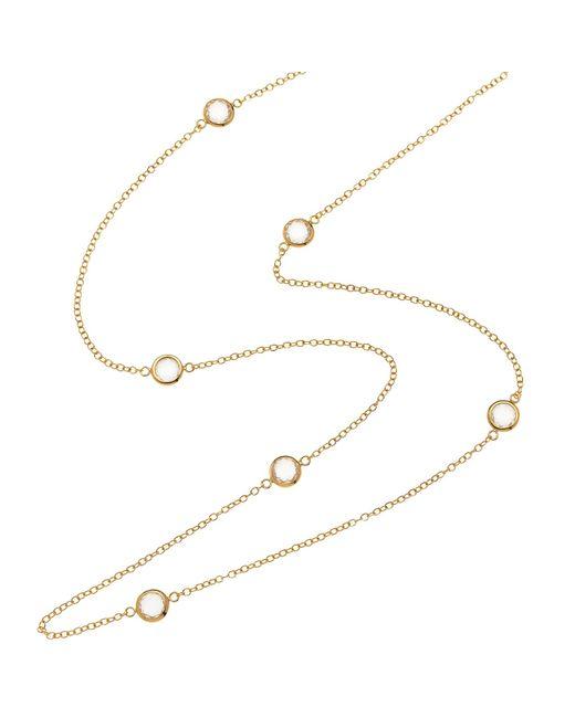 Melissa Odabash | Metallic Swarovski Crystal Long Necklace | Lyst