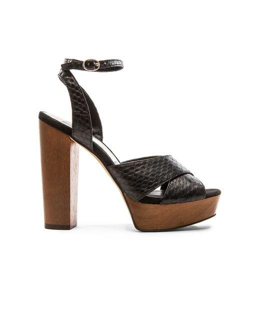 dolce vita callista platform sandals in black lyst