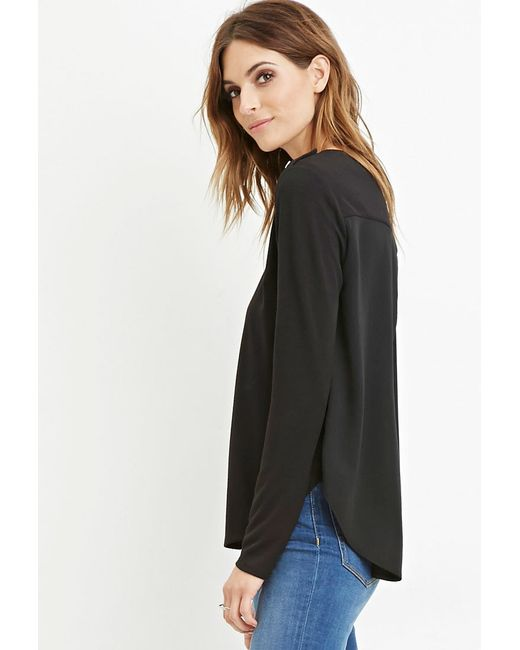 Forever 21 | Black Contemporary Buttoned Combo Top | Lyst