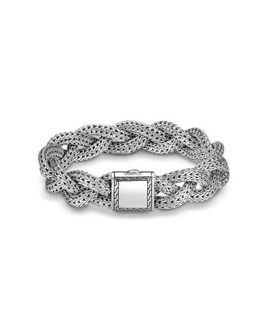 John Hardy | Metallic Braided Chain 14mm Bracelet In Silver | Lyst