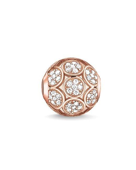 Thomas Sabo | Metallic Karma Beads Sparkling Circles Pink Bead | Lyst