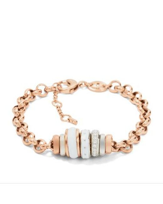 Fossil | Pink Jf01121998 Ladies Bracelet | Lyst