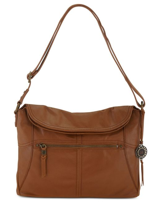 The Sak | Brown Esperato Flap Leather Hobo Bag | Lyst