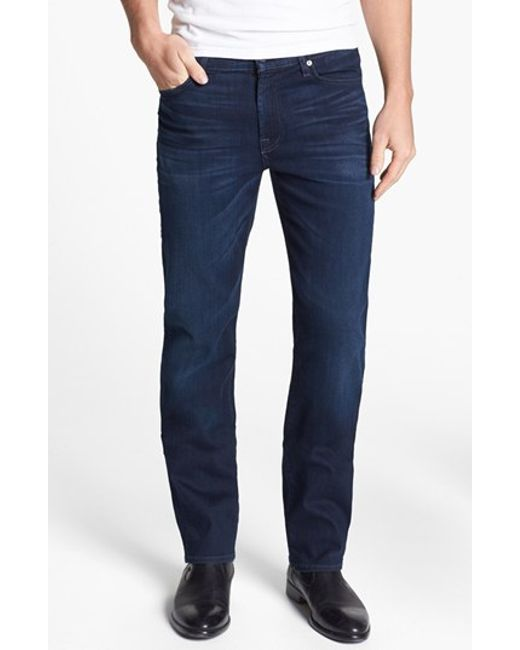 7 For All Mankind | Blue 7 For All Mankind 'slimmy - Luxe Performance' Slim Fit Jeans for Men | Lyst