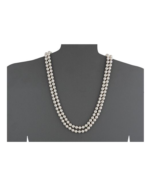 Majorica | White 1 Row 8mm Endless Rope Necklace | Lyst