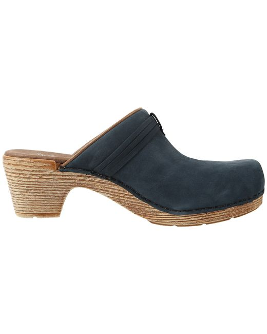 Dansko Miriam In Blue Navy Milled Nubuck Lyst