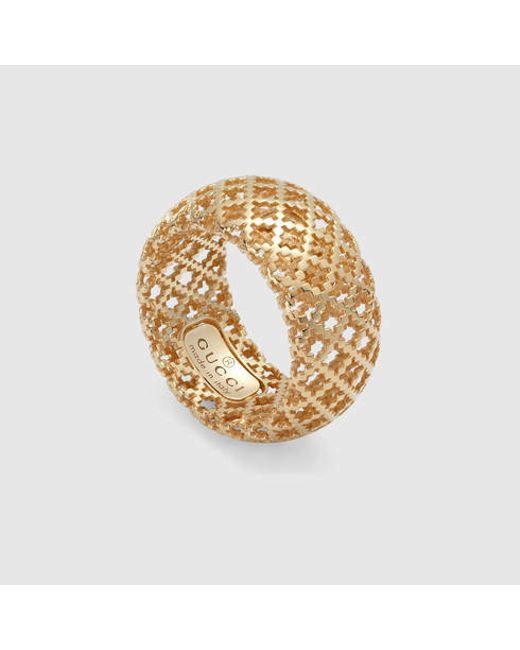 Gucci | Yellow Diamantissima Ring | Lyst