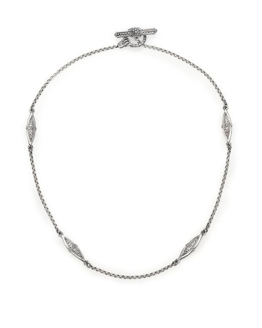 Konstantino | Metallic Kerma Sterling Silver Station Necklace | Lyst