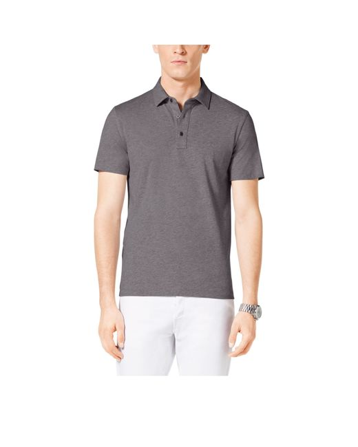 Michael Kors | Gray Cotton Polo Shirt for Men | Lyst