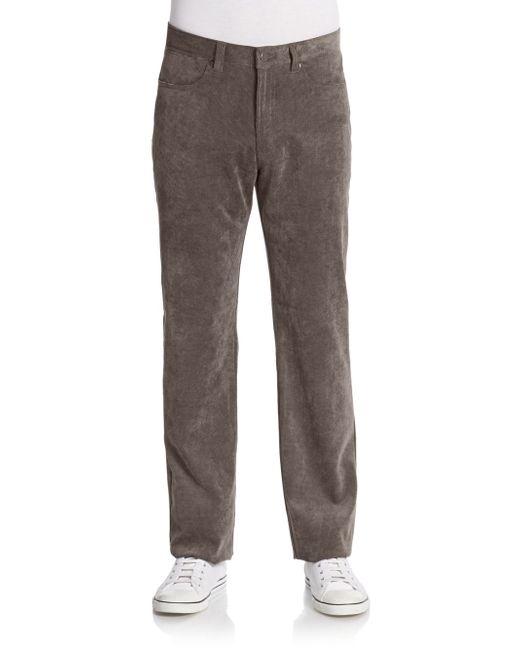Saks Fifth Avenue | Brown Straight-leg Corduroy Pants for Men | Lyst