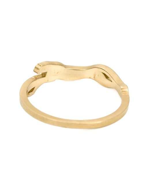 Marc Alary | Metallic Diamond 'cheetah Cycle' Ring | Lyst