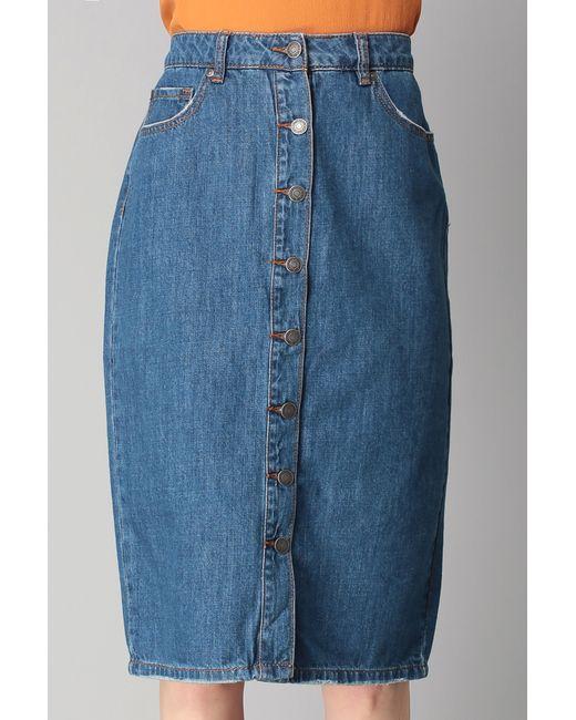vero moda midi skirt maxi skirt in blue save 30 lyst
